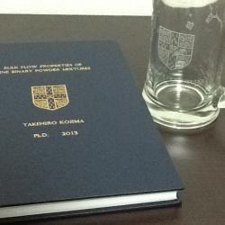 Takehiro Kojima obtains his PhD